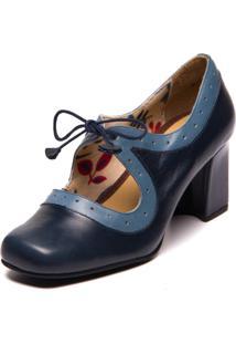 6c8bd7a936 Kanui. Sapato Feminino Azul Amor Flor Mzq -Passiflora ...
