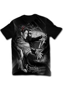 Camiseta Manga Curta Stompy Tattoo 27 Preto