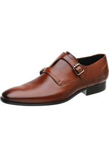 Sapato Malbork Monk Caramelo Caramelo