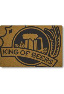 Tapete Capacho King Of Beers - Ouro