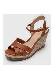 Sandália Dafiti Shoes Corda Caramelo