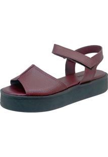 Sandália S2 Shoes Betina Grená Vinho