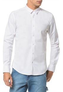 Camisa Ml Ckj Masc Recortes Basica - Branco 2 - P