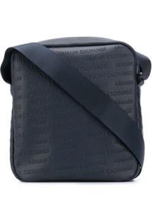 Armani Exchange Logo Messenger Bag - Azul