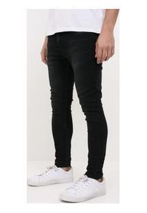 Calça Super Skinny Em Jeans