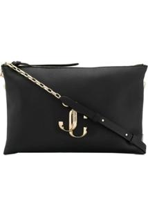 Jimmy Choo Logo Shoulder Bag - Preto