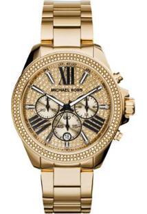 557a0e21df646 Relógio Digital Dourado Michael Kors feminino