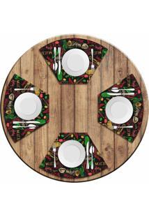 Jogo Americano Love Decor Para Mesa Redonda Wevans Mexican Kit Com 4 Pã§S - Multicolorido - Dafiti