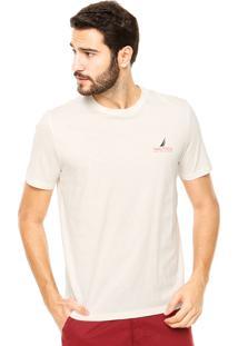 Camiseta Nautica Classic Fit Thirty Off-White