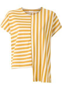 Osklen Blusa Summer Stripe Assimétra - Estampado