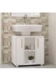Armário De Banheiro 2 Portas Versa Branco - Brv Móveis