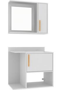 Conjunto Para Banheiro Bbn 13 – Brv Móveis - Branco