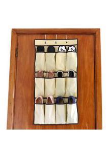 Sapateira De Porta Hanging Shoes Bege