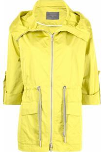 Lorena Antoniazzi Cropped-Sleeve Neon Raincoat - Amarelo