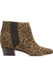 Golden Goose Deluxe Brand Ankle Boot De Couro Com Estampa De Leopardo - Marrom