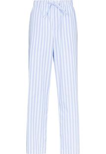 Tekla Calça De Pijama De Algodão Orgânico - Azul