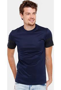 Camiseta Lacoste Slim Fit Manga Estampada Masculina - Masculino