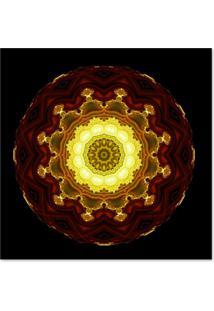 Quadro Abstrato Mandala Uniart Colorido 45X45Cm
