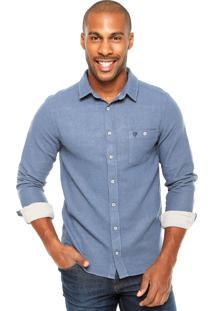 Camisa Cavalera Nicolas Azul