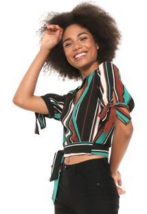 f2763157f1 ... Blusa Cropped Lily Fashion Choker Verde Preta