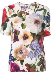 Dolce & Gabbana Blusa Com Estampa Floral - Branco