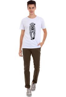 Camiseta Masculina Joss Onça Branco