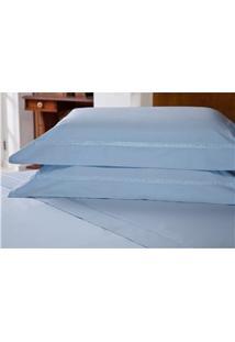 Fronha Para Travesseiro Plumasul Majestic Beauty Em Percal 233 Fios 50 X 150 Cm – Azul