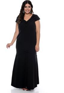 Vestido Forma Rara De Festa Plus Size Scarlett Preto - Preto - Feminino - Dafiti