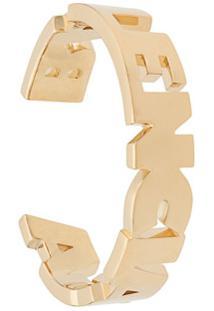 Balenciaga Bracelete Com Letras - Dourado