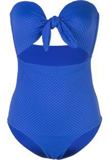 Onia Maiô Marie Com Recorte Vazado - Azul