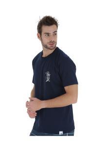 Camiseta Hd Mermaid Of - Masculina - Azul Escuro