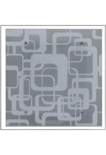 Lustre Plafon Para Sala / Cozinha / Banheiro /Quarto 30 Cm X 30 Cm Geométrico Branco
