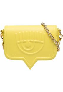 Chiara Ferragni Chain-Link Detail Shoulder Bag - Amarelo