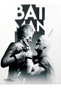 Quadro Em Metal Batman Vs Coringa Geek10 Branco