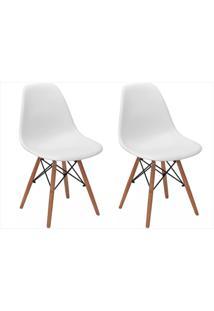 Kit Mpdecor 02 Cadeiras Eiffel Charles Eames Branca