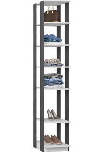 Guarda-Roupa Closet 5 Prateleiras 41 Cm Branco/Espresso - Bentec