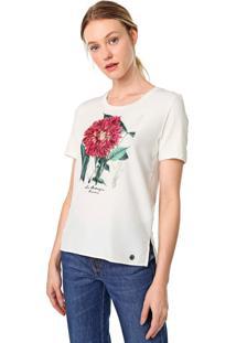Blusa Dudalina Flor Botanique Off-White