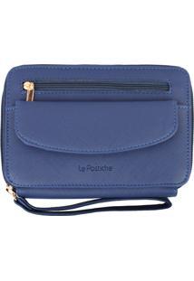 Porta Celular Feminino Com Bolso, Azul - Le Postiche