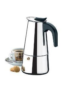 Cafeteira Italiana Luxo Em Inox 4 Cafes Expressos Xicaras