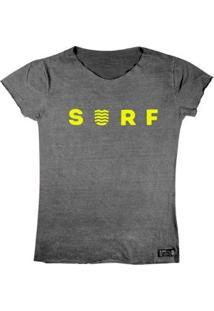 T-Shirt Wss Estonada Yellow Neon - Feminino-Cinza