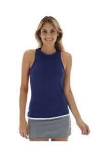 ec888c30d8 ... Camiseta Regata Fila Block - Feminina - Azul Escuro