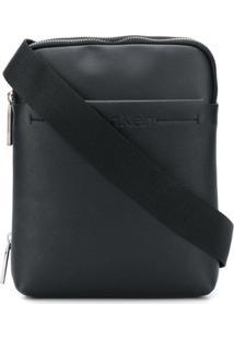 Calvin Klein Logo Embossed Messenger Bag - Preto