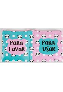 Necessaire Feminina Usar E Lavar Estampa Panda Marisa