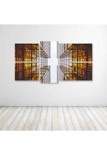 Quadro Decorativo - Skyscrapper - Composto De 5 Quadros - Multicolorido - Dafiti