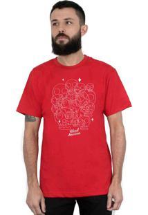 Camiseta Bleed American Calaveritas Vermelha