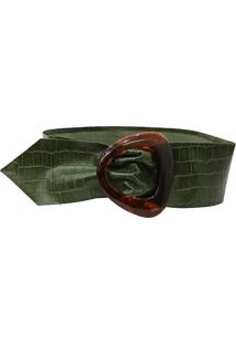 Faixa Croco Cakau Acessórios Verde Militar