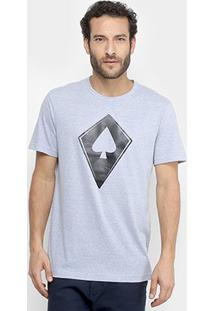 Camiseta Mcd Com Logo Masculina - Masculino-Azul Claro