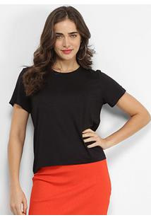 Camiseta Sommer Lisa Feminina - Feminino-Preto