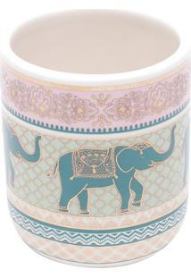 Cachepot Indian Elephant- Rosa Claro & Azul- 7Xø6Cm