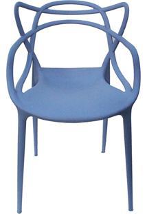 Cadeira Allegra Azul Caribe Rivatti Móveis